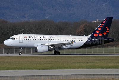 Brussels Airlines Airbus A319-111 OO-SSA (msn 2392) GVA (Paul Denton). Image: 912289.