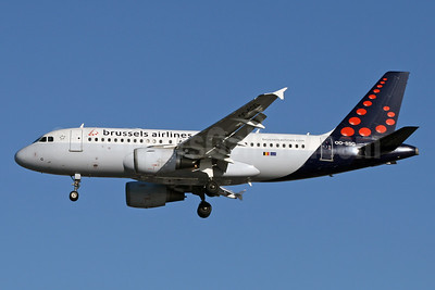 Brussels Airlines Airbus A319-112 OO-SSG (msn 1160) LHR (SPA). Image: 925597.