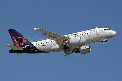 Brussels Airlines Airbus A319-113 OO-SSP (msn 644) GVA (Paul Denton). Image: 910146.
