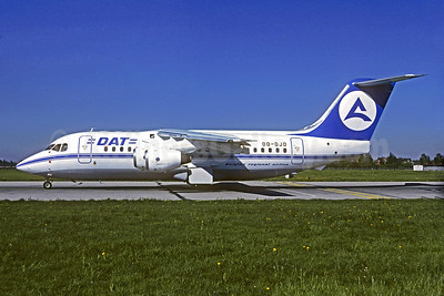 DAT (Delta Air Transport) - Belgian regional airline BAe 146-200 OO-DJD (msn E2077) MUC (Christian Volpati Collection). Image: 930728.