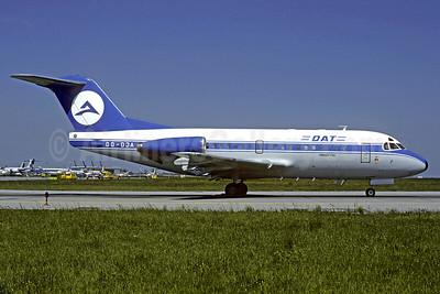 DAT (Delta Air Transport) Fokker F.28 Mk. 3000 OO-DJA (msn 11163) MUC (Jacques Guillem Collection). Image: 920321.