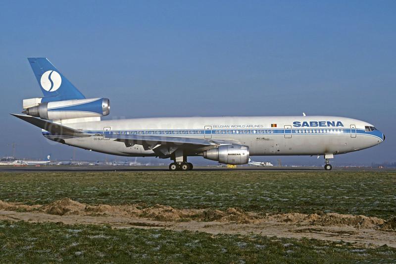 SABENA-Belgian World Airlines (World Airways) McDonnell Douglas DC-10-30CF OO-SLA (msn 47906) BRU (Jacques Guillem Collection). Image: 937156.