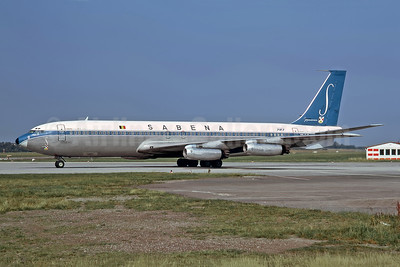 SABENA-Belgian World Airlines Boeing 707-329 OO-SJG (msn 18460) HAM (Rob Rindt Collection). Image: 949512.