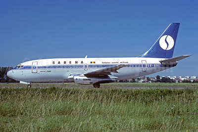 SABENA-Belgian World Airlines Boeing 737-229 OO-SDL (msn 21136) OST (Jacques Guillem Collection). Image: 937153.