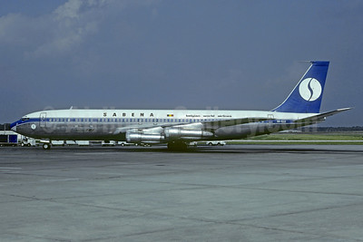 SABENA-Belgian World Airlines Boeing 707-329C OO-SJJ (msn 19162) BRU (Christian Volpati Collection). Image: 937151.