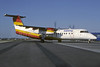 Sabena (Tyrolean Airways) Bombardier DHC-8-311 Dash 8 OE-LEC (msn 313) (Tyrolean colors) LHR (Richard Vandervord). Image: 928235.