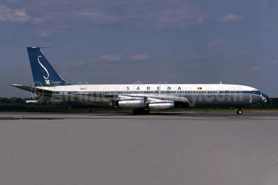 SABENA-Belgian World Airlines Boeing 707-329 OO-SJG (msn 18460) JFK (Bruce Drum). Image: 105274.