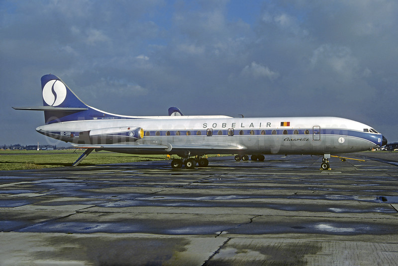 Sobelair Sud Aviation SE.210 Caravelle 6N OO-SRB (msn 065) (SABENA colors) BRU (Jacques Guillem Collection). Image: 932372.