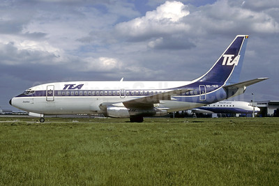 TEA (Trans European Airways) (Belgium) Boeing 737-2M8 OO-TEO (msn 22090) ORY (Jacques Guillem). Image: 940073.