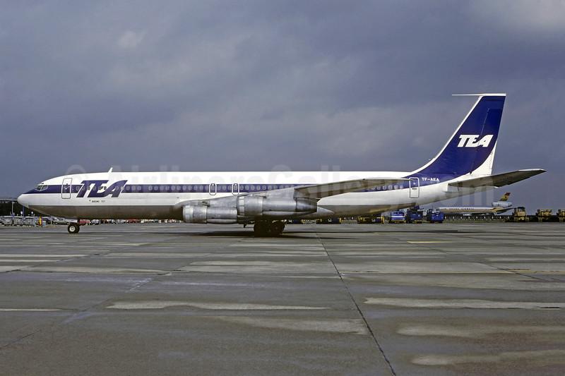 TEA (Trans European Airways) (Belgium) (Air Arctic Icelandic) Boeing 707-321C TF-AEA (msn 18714) BRU (Christian Volpati Collection). Image: 948496.