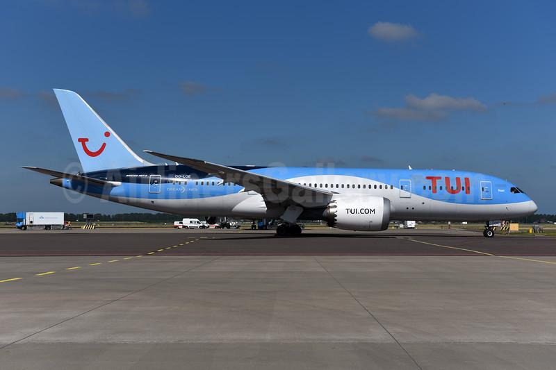 TUI Airlines (Belgium) Boeing 787-8 Dreamliner OO-LOE (msn 36426) AMS (Ton Jochems). Image: 945637.