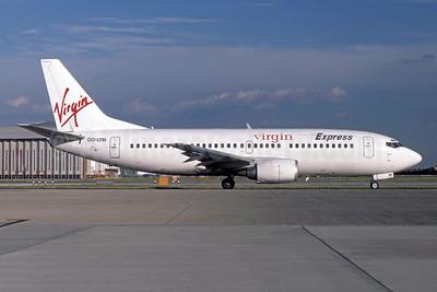 Virgin Express (Belgium) Boeing 737-3M8 OO-LTM (msn 25070) LHR (SPA). Image: 948107.
