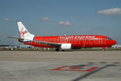 Virgin Express (Belgium) Boeing 737-43Q OO-VBR (msn 28493) BRU (Ton Jochems). Image: 953295.