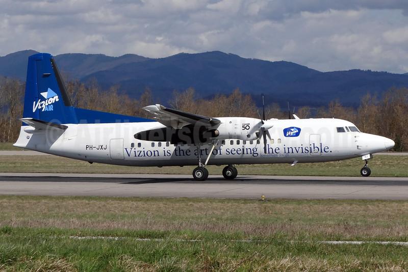 Vizion Air (Denim Air) Fokker F.27 Mk. 050 PH-JXJ (msn 20232) BSL (Paul Bannwarth). Image: 911750.