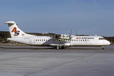 Air Srpska (JAT) ATR 72-202 YU-ALP (msn 189) ZRH (Rolf Wallner). Image: 941464.