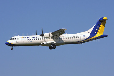 B and H Airlines ATR 72-212 T9-AAD (msn 464) ZRH (Keith Burton). Image: 900282.