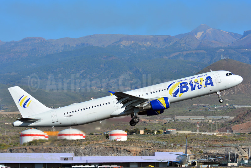 BWA-Bosnian Wand Airlines  (Air Mediterranee) Airbus A321-111 F-GYAN (msn 535) TFS (Paul Bannwarth). Image: 926462.