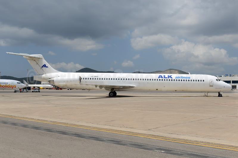 ALK Airlines - Air Lubo McDonnell Douglas DC-9-82 (MD-82) LZ-DEO (msn 48079) IBZ (Ton Jochems). Image: 938899.