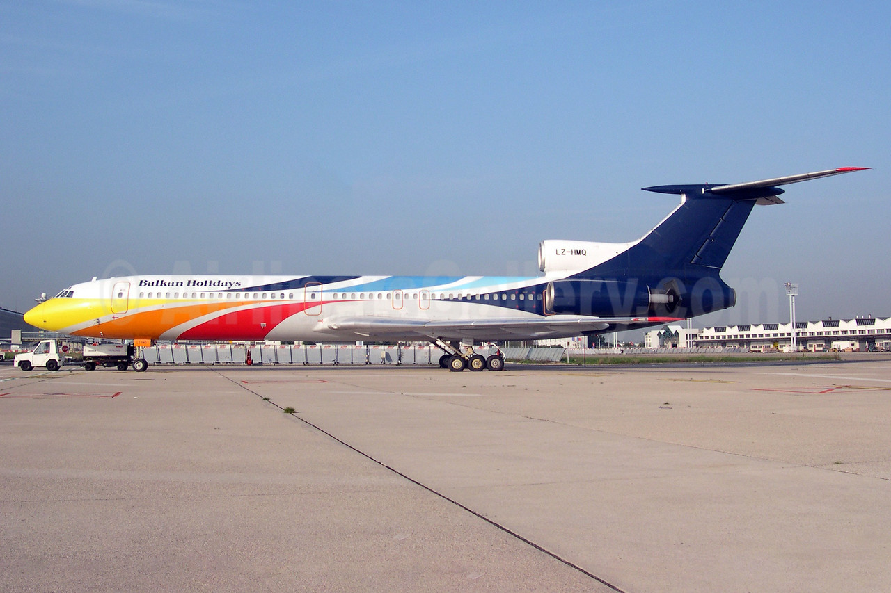 Balkan Holidays Airlines (BH Air) Tupolev Tu-154M LZ-HMQ (msn 86A743) ORY (Pepscl). Image: 912024.
