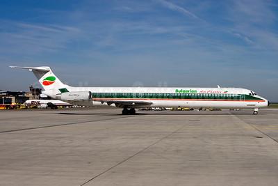 Bulgarian Air Charter McDonnell Douglas DC-9-82 (MD-82) LZ-LDF (msn 49219) (Alitalia colors). NUE (Gunter Mayer). Image: 943801.