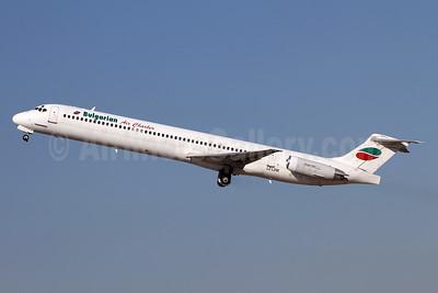 Bulgarian Air Charter McDonnell Douglas DC-9-82 (MD-82) LZ-LDW (msn 49795) ZRH (Andi Hiltl). Image: 943802.