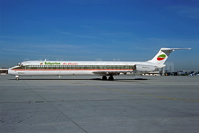 Bulgarian Air Charter McDonnell Douglas DC-9-82 (MD-82) LZ-LDY (msn 49213) (Alitalia colors) NUE (Christian Volpati Collection). Image: 943655.