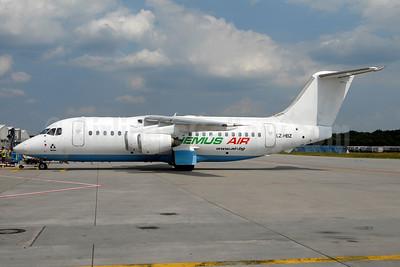 Hemus Air BAe 146-200 LZ-HBZ (msn E2103) (Flybe underside) FRA (Ton Jochems). Image: 935426.