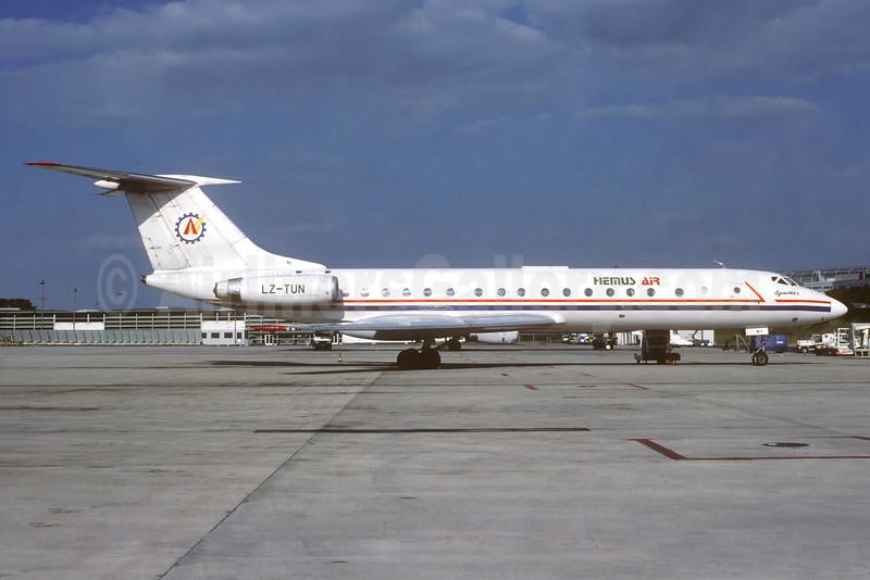 Hemus Air (Albanian Airlines) Tupolev Tu-134A-3 LZ-TUN (msn 4352307) CDG (Christian Volpati). Image: 935422.
