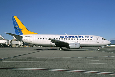 Tayaran Jet (tayaranjet.com) Boeing 737-330 LZ-TYR (msn 25414) MXP (Jacques Guillem Collection). Image: 949356.