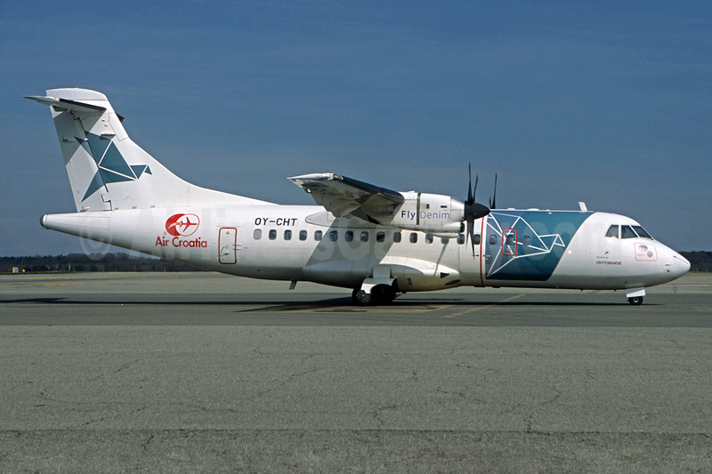 Air Croatia - FlyDenim (Denim Air) ATR 42-300 OY-CHT (msn 080) (Jacques Guillem Collection). Image: 932466.