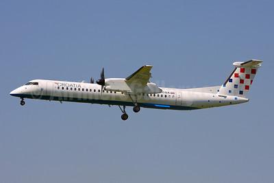 Croatia Airlines Bombardier DHC-8-402 (Q400) 9A-CQA (msn 4205) ZRH (Keith Burton). Image: 900285.