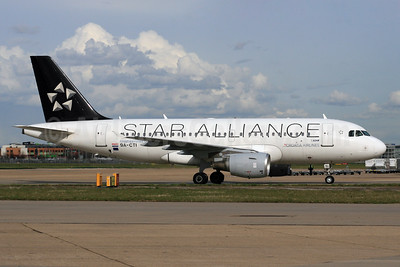 Croatia Airlines Airbus A319-112 9A-CTI (msn 1029) (Star Alliance) LHR. Image: 933631.