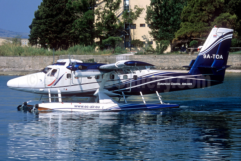 European Coastal Airlines de Havilland Canada DHC-6-300 Twin Otter 9A-TOA (msn 557) Split (Jacques Guillem Collection). Image: 932367.