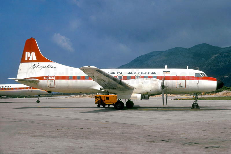 Pan Adria Airways Convair 440-11 YU-ADU (msn 327) DBV (Jacques Guillem Collection). Image: 937871.