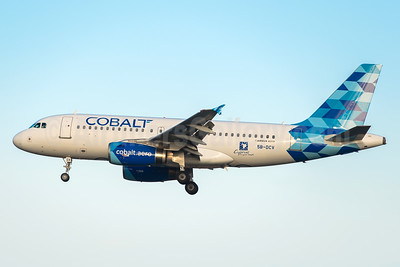 Colbalt's first Airbus A319, delivered on September 28, 2016