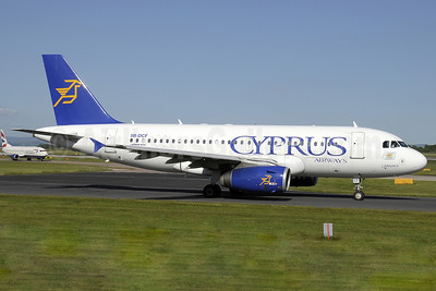 Cyprus Airways Airbus A319-132 5B-DCF (msn 2718) MAN (Paul Denton). Image: 907313.