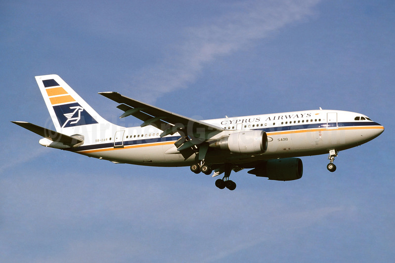 Cyprus Airways Airbus A310-203 5B-DAR (msn 309) ZRH (Paul Bannwarth). Image: 930507.
