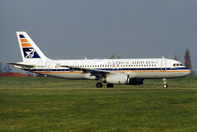 Cyprus Airways Airbus A320-231 5B-DBA (msn 180) BHX (SM Fitzwilliams Collection). Image: 925725.