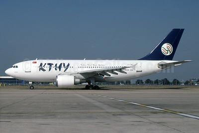 Kibris Turk Yollari-KTHY Airbus A310-304 TC-TMT (msn 418) LHR. Image: 937214.