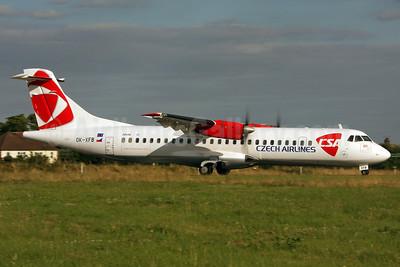 Czech Airlines-CSA ATR 72-202 OK-XFB (msn 297) SEN (Keith Burton). Image: 900349.