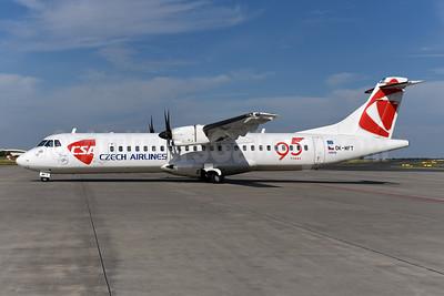 Czech Airlines-CSA ATR 72-212A (ATR 72-500) OK-MFT (msn 761) (95 Years) PRG (Ton Jochems). Image: 945147.