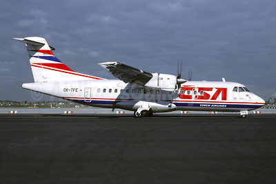 CSA-Czech Airlines-CSA ATR 42-320 OK-TFE (msn 84) STR (Christian Volpati Collection). Image: 943186.