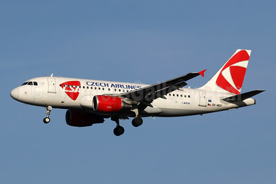 Czech Airlines-CSA Airbus A319-112 OK-MEK (msn 3043) LHR (SPA). Image: 940351.