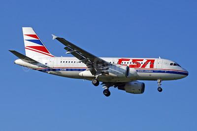 CSA-Czech Airlines Airbus A319-112 OK-MEK (msn 3043) ZRH (Paul Denton). Image: 910069.