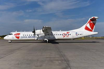 Czech Airlines-CSA ATR 72-212A (ATR 72-500) OK-MFT (msn 761) (95 Years) PRG (Ton Jochems). Image: 945148.