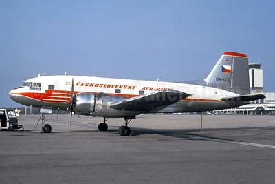 Ceskoslovenske Aerolinie Ilyushin (Avia) Av-14P (Il-14) OK-LCB (msn 703110) BSL (Jacques Guillem Collection). Image: 953198.