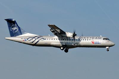 Czech Airlines-CSA ATR 72-212A (ATR 72-500) OK-GFR (msn 681) (SkyTeam) BRU (Karl Cornil). Image: 941342.