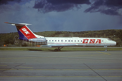 CSA-Ceskoslovenske Aerolinie (Czech Airlines) Tupolev Tu-134A OK-EFJ (msn 4323128) ZRH (Christian Volpati Collection). Image: 930725.
