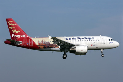 Czech Airlines Airbus A319-112 OK-NEP (msn 3660) (Wow Prague - Flying to the City of Magic) AMS (Antony J. Best). Image: 938598.