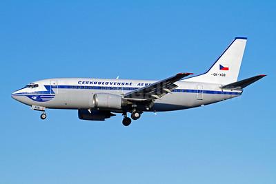 Ceskoslovenske Aerolinie (CSA-Czech Airlines) Boeing 737-55S OK-XGB (msn 26540) (blue 1957 retrojet) ARN (Stefan Sjogren). Image: 907667.